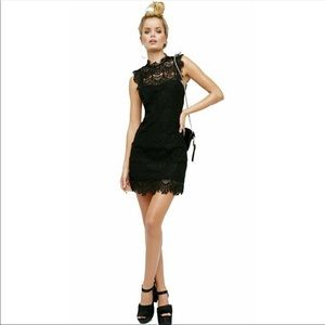 NEW Free People L Backless Little Black Dress Lace
